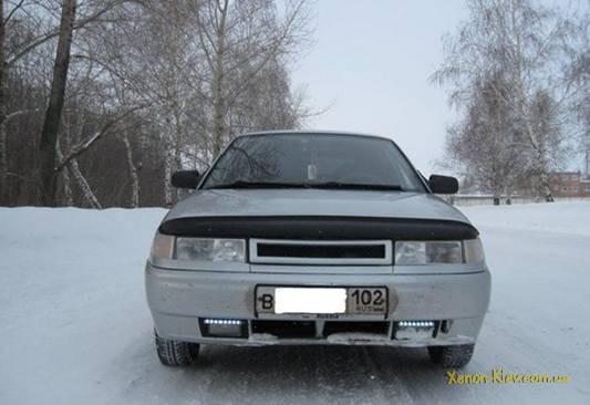 Варианты расположения светодиодов или диодных лент на Авто ваз 2110